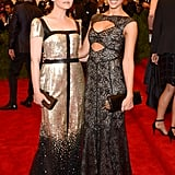 Ginnifer Goodwin and Jessica Alba bonded over their Tory Burch gowns on the red carpet.