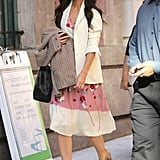 Katie Holmes made the press rounds in NYC.