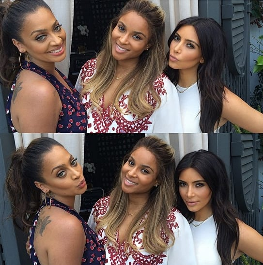 "Kim Kardashian Makes ""#Mommymemories"" at Ciara's Baby Shower"