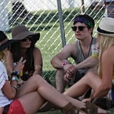 Vanessa Hudgens and Josh Hutcherson hung out with friends in 2011.