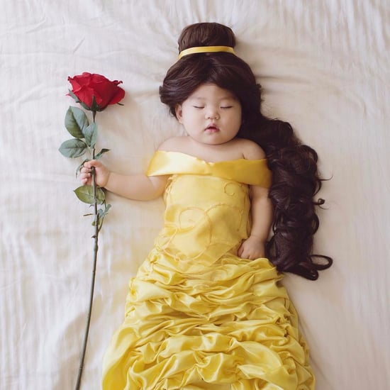 Baby Dressed as Beauty and the Beast Characters