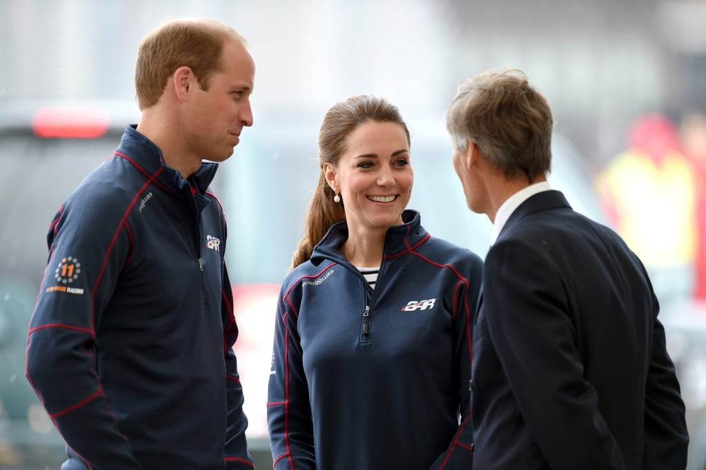 The Duke and Duchess of Cambridge Don't Let Bad Weather Steal Their Royal Cheer