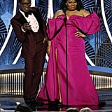 Wesley Snipes and Da'Vine Joy Randolph at the 2020 Golden Globes