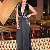 When She Opted For This Custom-Made Prada Gown With a Plunging Neckline