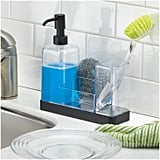InterDesign Forma Plastic Soap Pump and Amp Brush Caddy