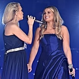 Pictured: Carrie Underwood and Lauren Alaina