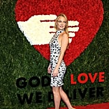 Oct. 15: She zipped to NYC for the Golden Heart Awards, where she mingled with Michael Kors and Anna Wintour.