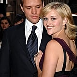 Ryan couldn't keep his eyes off Reese during the LA premiere of Crash in April 2005.