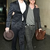 James McAvoy and Michael Fassbender Hug It Out Alongside January and Zoe
