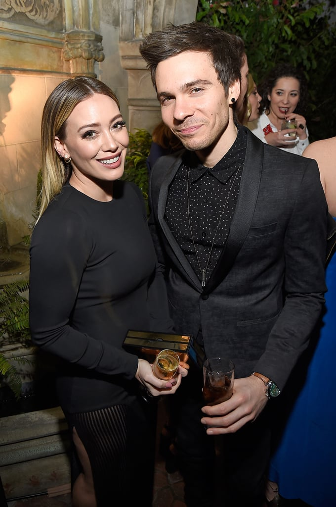 "It looks like love is in the air for Hilary Duff. After weeks of speculation, the Younger star seemingly confirmed her new romance with 29-year-old singer Matthew Koma when the two stepped out together for Entertainment Weekly's SAG Awards pre-party in LA on Saturday night. Matthew wrapped his arm around Hilary as they blazed through the red carpet, and a source told Us Weekly, their relationship is ""pretty recent"" and ""Hilary thinks Matt is very talented and cute."" The duo previously worked together on Hilary's 2015 Breathe In. Breathe Out. album, and she was most recently linked to personal trainer Jason Walsh.      Related:                                                                Hilary Duff on Coparenting With Ex Mike Comrie: ""I Wouldn't Choose Anyone Else""                                                                   Bikini-Clad Hilary Duff Enjoys a Low-Key Day at the Beach With Her Family"
