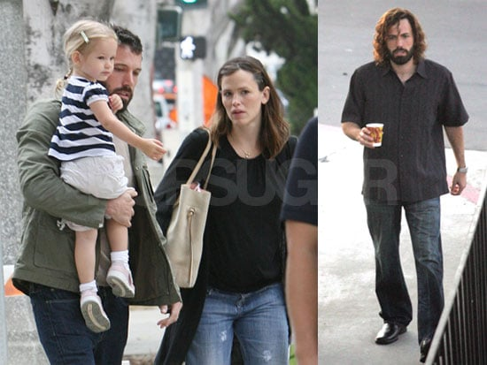 Photos of Ben Affleck on the Set of Extract