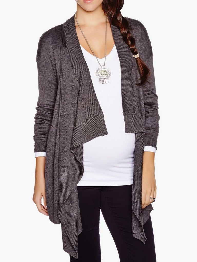 67d2ed89b4 Thyme Maternity Zip-Up Cardigan ( 40