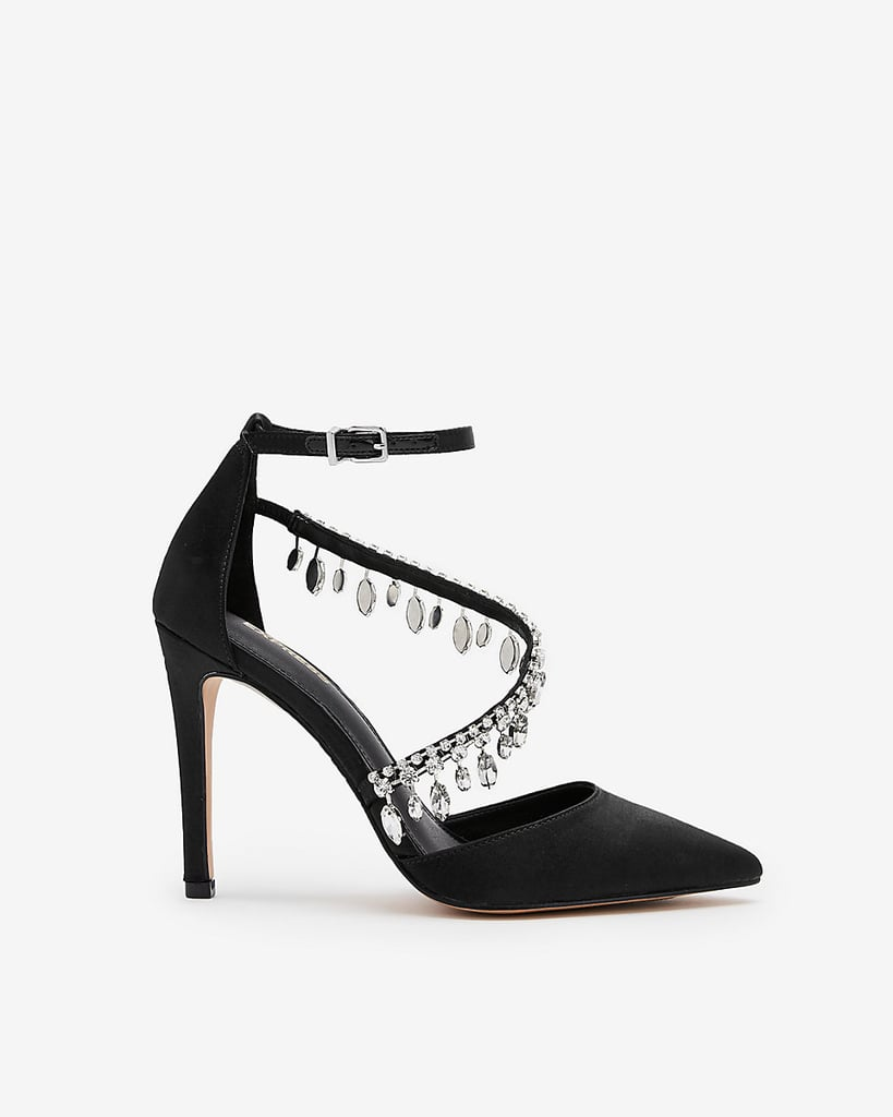 Express Asymmetrical Jeweled Pumps