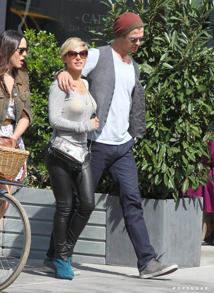 Chris Hemsworth and Elsa Pataky Hold Hands and Lie Low Before a Ball