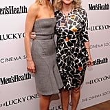 Taylor Schilling linked up with Blythe Danner for the Cinema Society and Men's Health screening of The Lucky One in NYC.