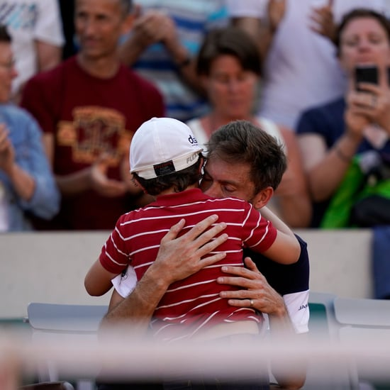 Tennis Player's Son Runs on Court After Losing Video