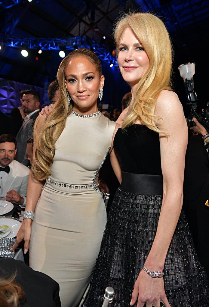 Jennifer Lopez and Nicole Kidman at the 2020 Critics' Choice Awards