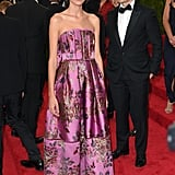 On the arm of the designer himself, Alexa was perfect in pretty pink Erdem at the 2015 Met Gala.
