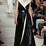 A simple sequined wrap dress displayed the type of elegance Chanel has perfected: timeless and able to be worn by young adults and grand dames alike.