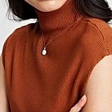 Orelia London Pineapple Pearl Ditsy Necklace ($42)