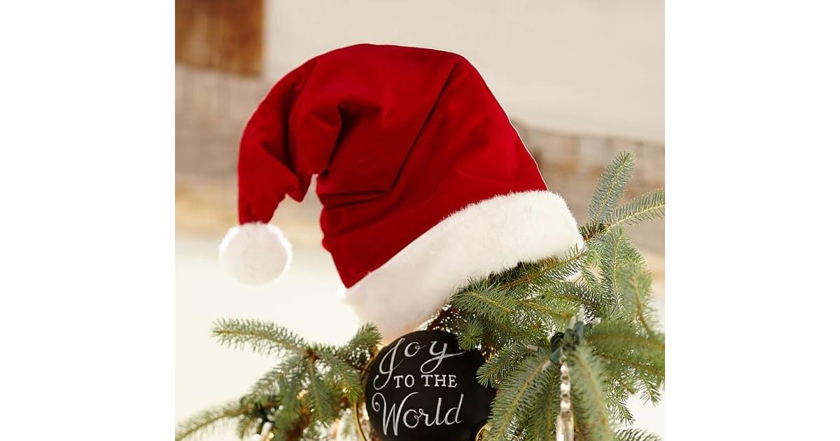 santa hat tree topper christmas tree decorating ideas popsugar moms photo 22 - Santa Christmas Tree Topper