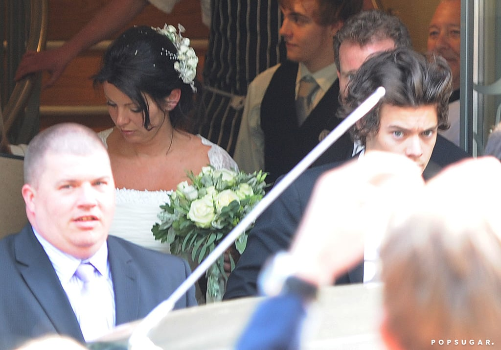 Harry Style was the best man at his mom's wedding.