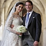 Prince Félix of Luxembourg and Princess Claire posed for a beautiful wedding portrait.