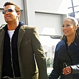 """The two took a stroll in Beverly Hills, CA, while filming the singer's music video for """"Jenny on the Block"""" in October 2002."""