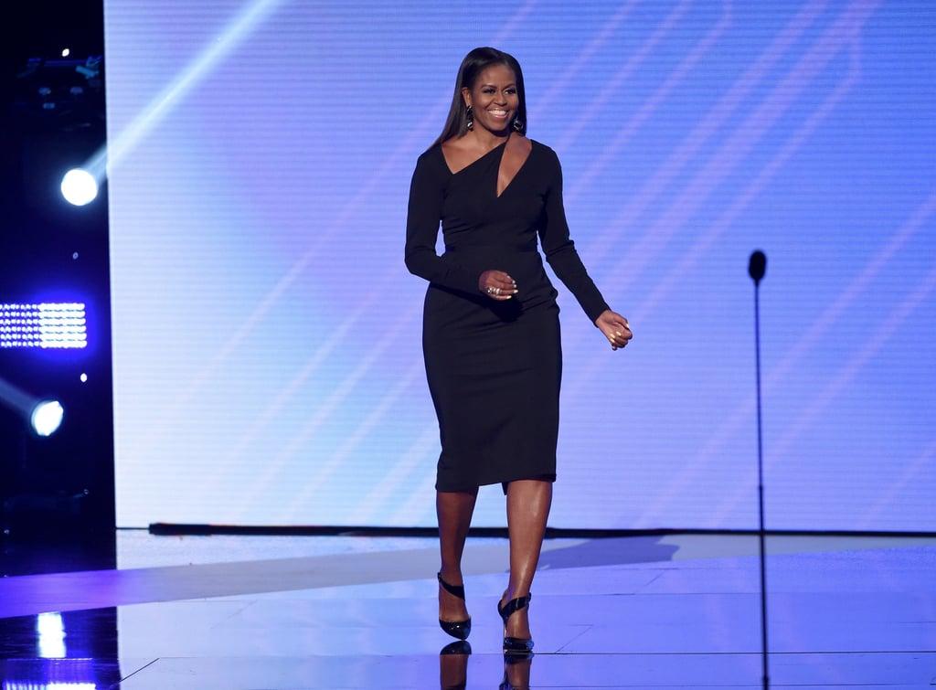 Michelle Obama Black Cushnie Et Ochs Dress Espy Awards 2017