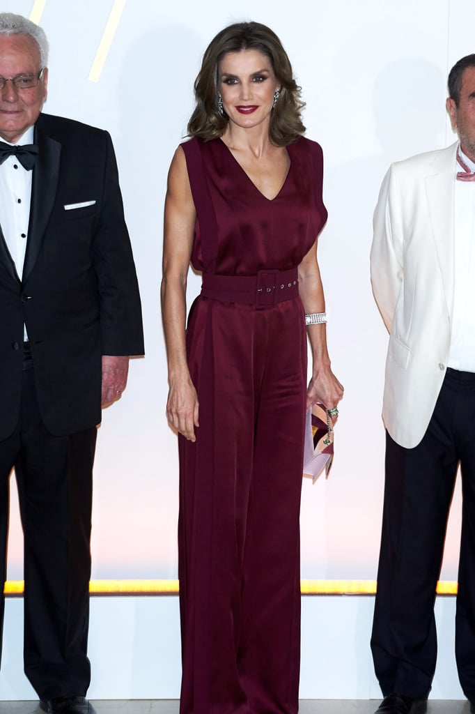 Queen Letizia in Angel Schlesser Jumpsuit