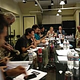 Alison Brie tweeted about the first table read for Community season four. Source: Twitter user AlisonBrie