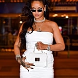 Rihanna Wore Her Sexy White Dress With Strappy Fenty Heels