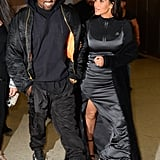 When Kim expertly layered her look and Kanye did the same — only with sweats and a jacket.