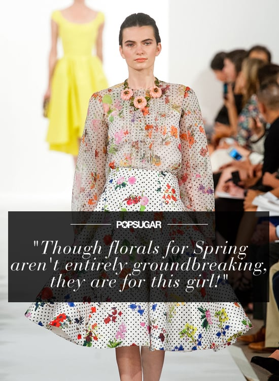 """""""Though florals for Spring aren't entirely groundbreaking, they are for this girl! In 2014, I will embrace my inner garden girl by incorporating both moody and bright blossoms but always with my signature edgy-glam twist."""" — Mandi Villa, contributing editor"""