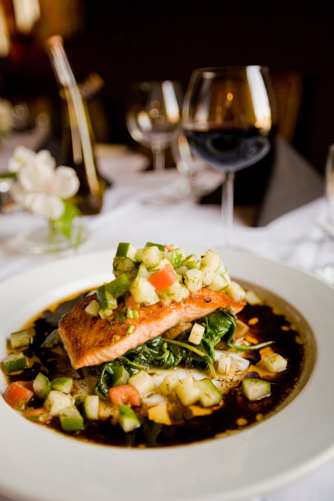 Make a dinner reservation for one.