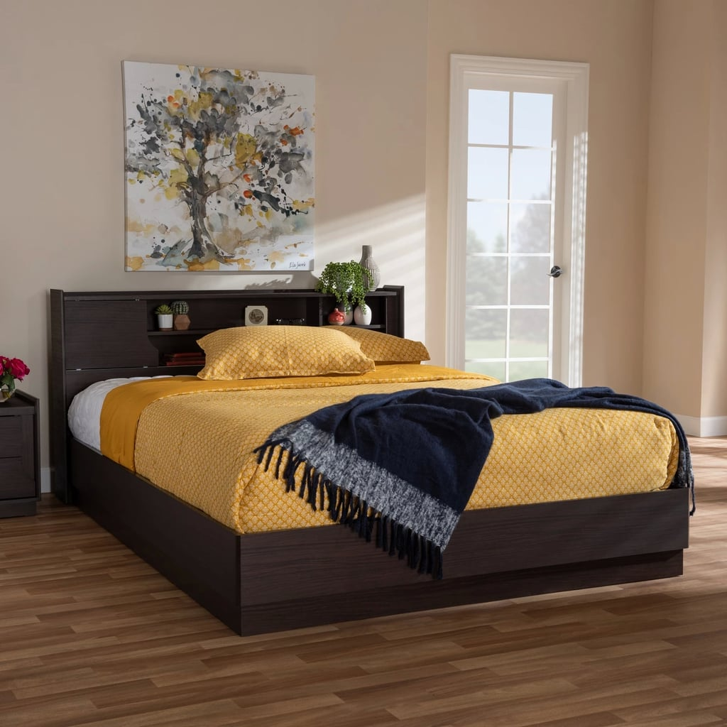 Queen larsine finished platform storage bed best target - Best platform beds with storage ...
