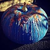 Melted Crayon Teal Pumpkin