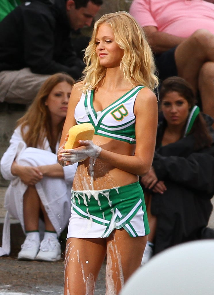 Erin Heatherton Filming Grown Ups 2 Erin Heatherton On