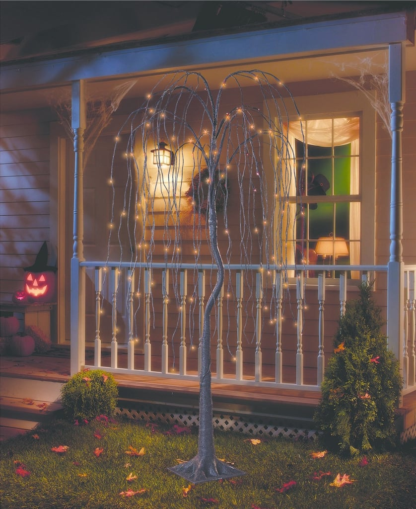 philips pre lit artificial willow tree 85 halloween porch decor from target popsugar home photo 3 - Target Halloween Tree