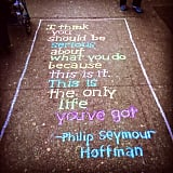Inspirational Health and Fitness Quotes Written in Chalk