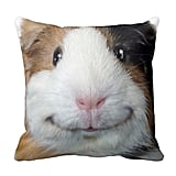 Smiling Guinea Pig Cotton Square Throw Pillow Case Cushion Cover