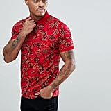 Asos Polo With All Over Paisley Print