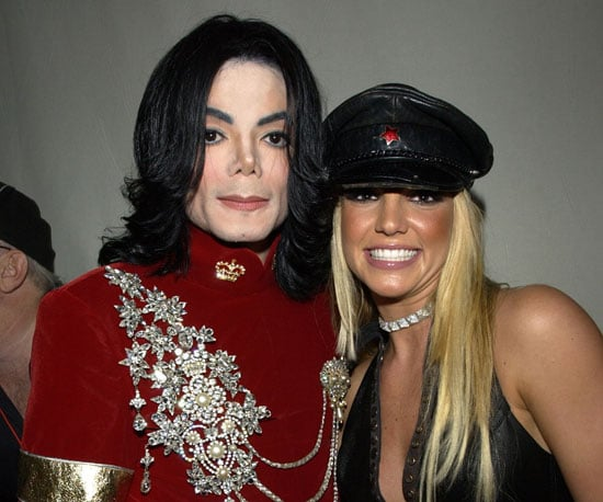 Britney Spears looked up to Michael, who posed with her backstage at the 2002 VMAs in NYC.