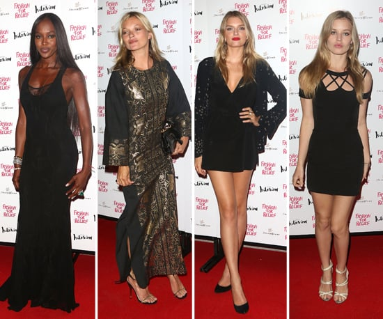 British Models at Fashion for Relief Olympics Dinner