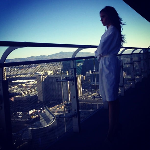 Victoria Beckham enjoyed the view from her Las Vegas hotel room. Source: Instagram user victoriabeckham