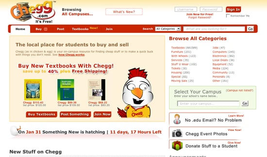 Chegg Unblur Website