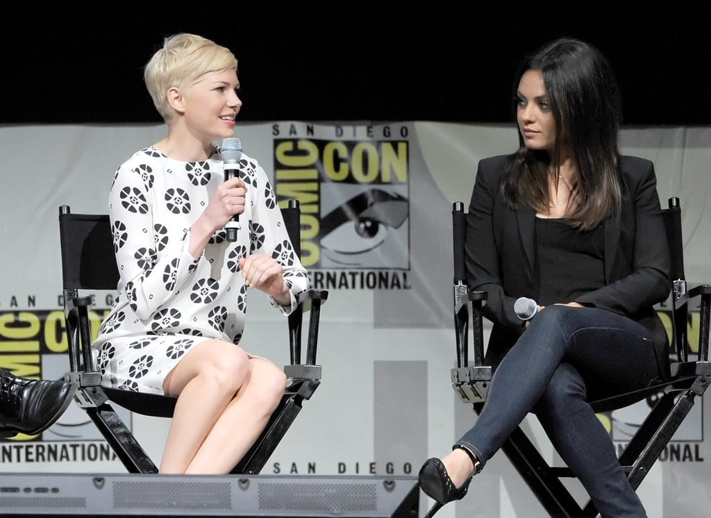 Michelle Williams chatted with Mila Kunis onstage about Oz: The Great and Powerful at Comic-Con.