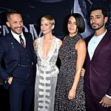 Pictured: Tom Hardy, Michelle Williams, Jenny Slate, and Riz Ahmed