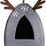 Hollypet Self-Warming 2-in-1 Cat Bed — Gray Reindeer