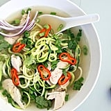 Gluten-Free: Zucchini Noodle Chicken Pho
